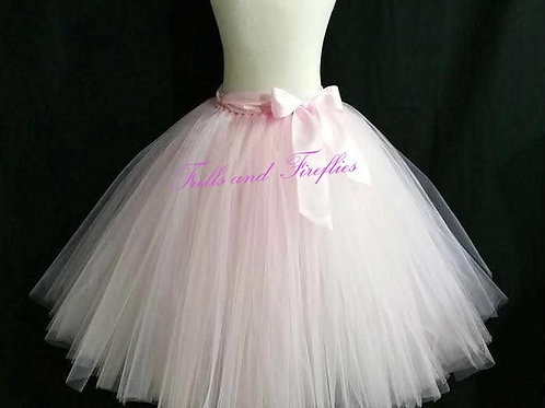 LIGHT PINK TULLE TUTU SKIRT - Many Colors - Baby to Adult Sizes