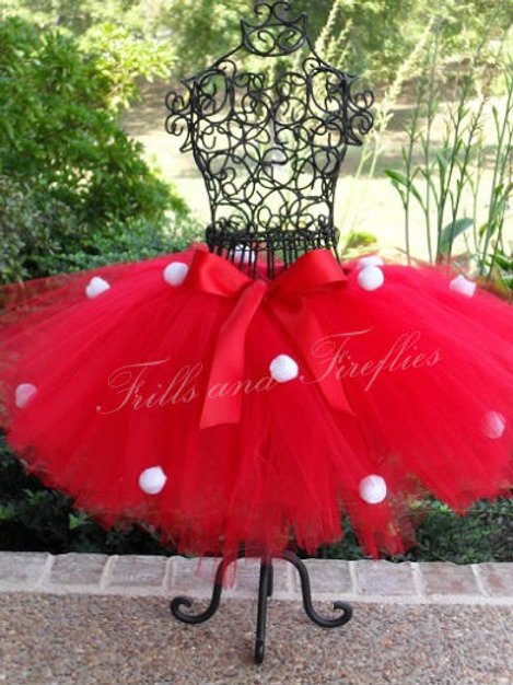 Minnie Mouse Red & White TULLE TUTU SKIRT - Many Colors -Baby to Adult Sizes
