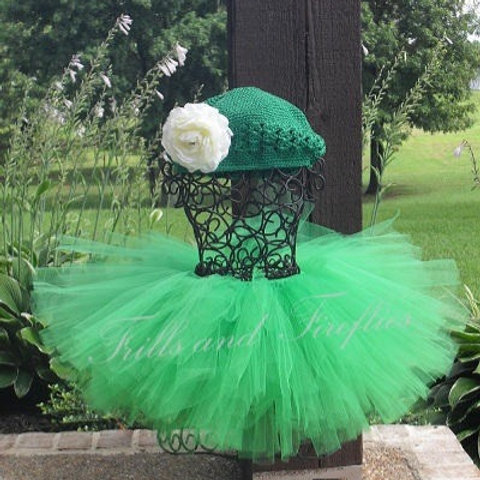 Green St. Patrick's Day Tutu Tulle SKIRT - Many Colors -Baby to Adult Size