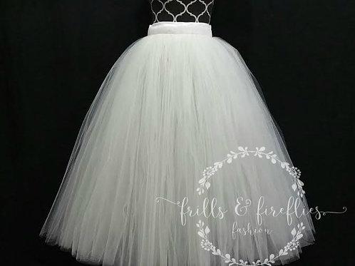 FULL LENGTH WHITE TULLE SKIRT / Maxi Skirt / Bridal Skirt / Skirts forWo