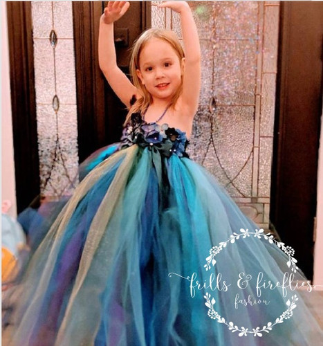 ad8968a08 Peacock Fairy Flower Girl Dress 3/Peacock Wedding/Fairy Dress/Party Dress /Gift