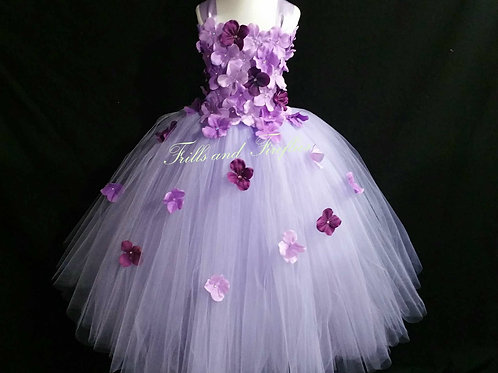 Lavender and Plum Flower Girl Dress in Sizes 1t up to 12
