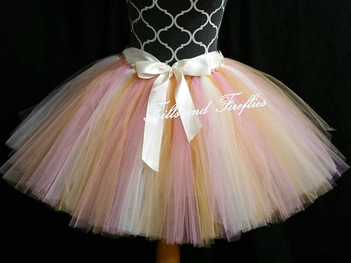 OLD GOLD, DUSTY ROSE, IVORY TULLE TUTU SKIRT - Many Colors - Baby to Adult Sizes