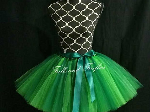 GREEN TULLE TUTU SKIRT - Many Colors - Children to Adult Sizes
