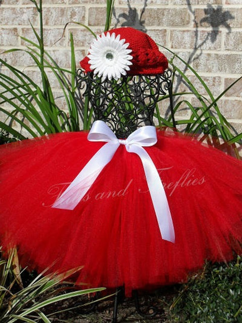 Red TULLE TUTU SKIRT - Many Colors -Baby to Adult Sizes