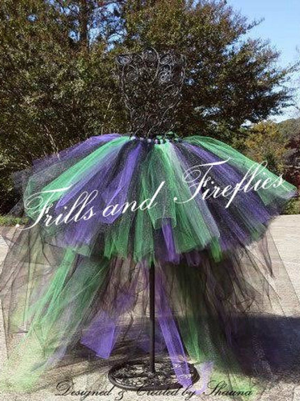 HI LO Witch Tutu Costume Skirt - Many Colors - Baby to Adult Sizes