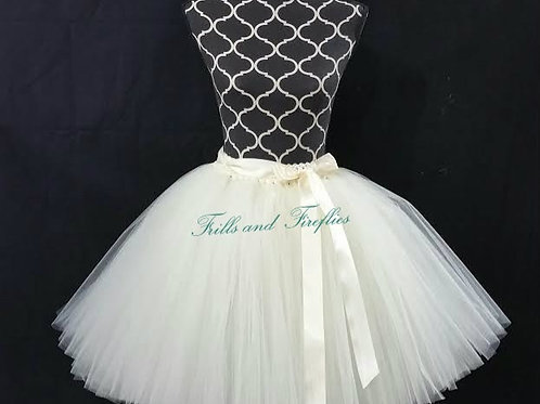 IVORY TULLE TUTU SKIRT - Many Colors - Baby to Adult Sizes