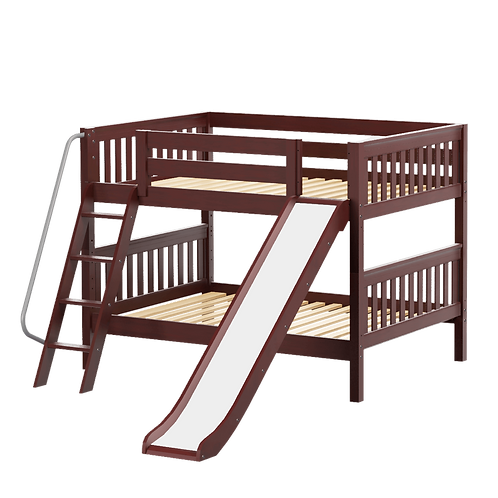 Medium Twin over Twin Bunk with Angle Ladder & Slide