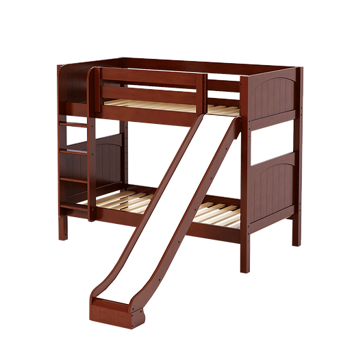 Maxtrix Medium High Twin over Twin Bunk with Straight Ladder & Slide