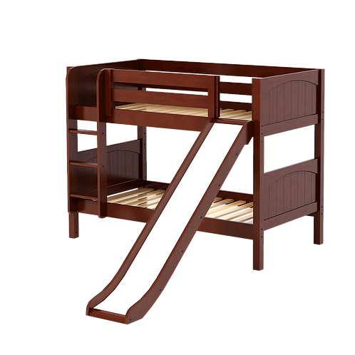 Maxtrix Low Twin over Twin Bunk with Straight Ladder & Slide