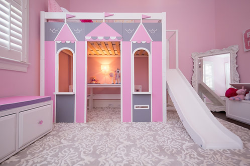 Maxtrix Playhouse High Loft with straight ladder