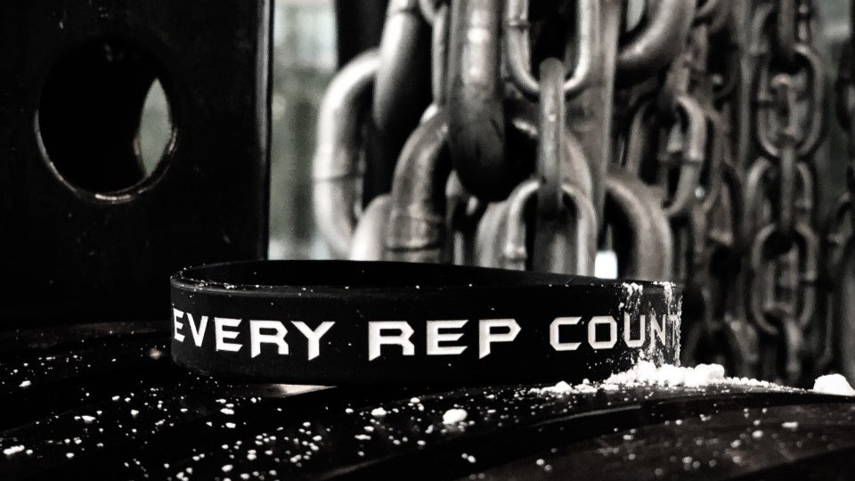 """EVERY REP COUNTS"" WRISTBAND"