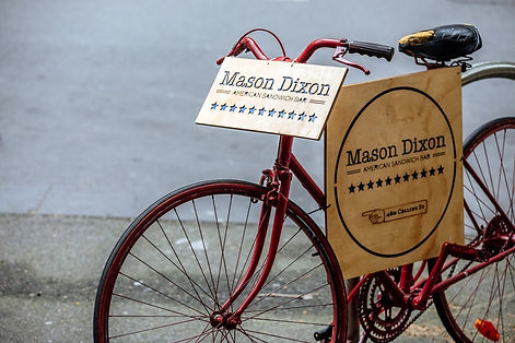 Mason Dixon American Sandwich Bar Bike Sign