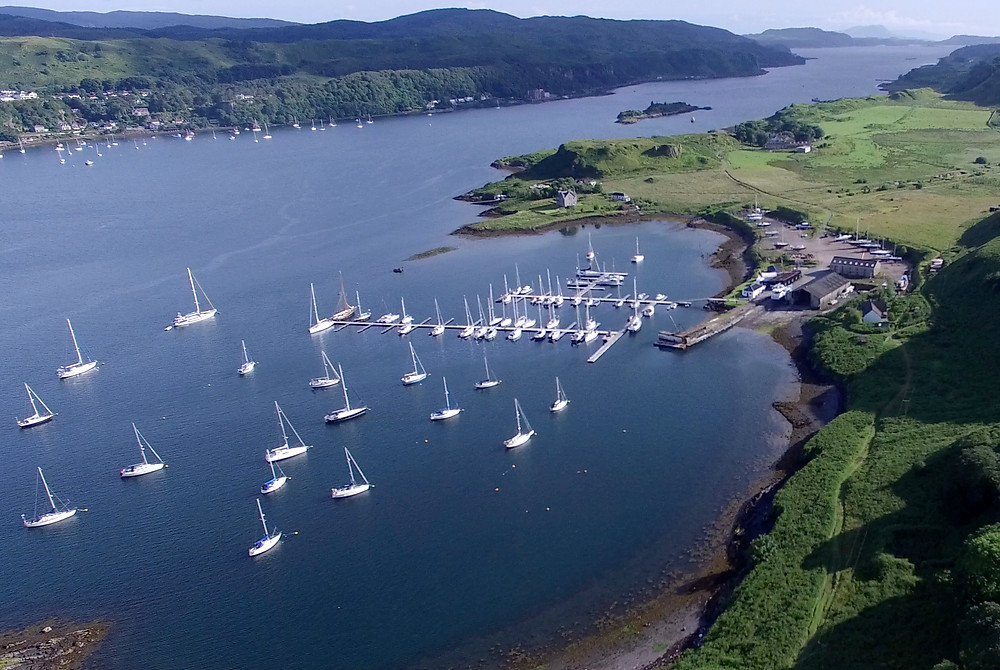 Ariel view of North Kerrera, 10 minutes from Oban town centre