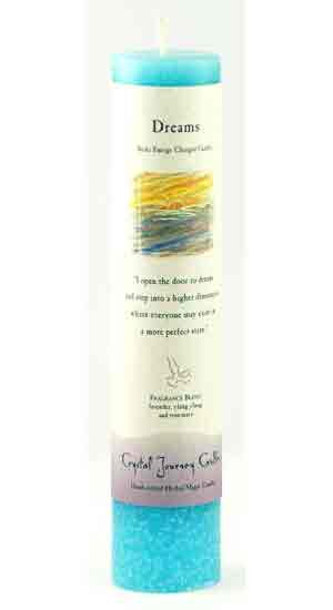 Dreams Reiki Charged Pillar candle
