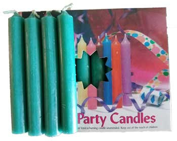 "1/2""Dark Green Chime Candle 20 pack"