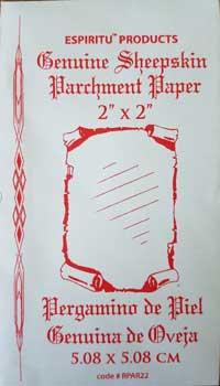 "2"" x 2"" Sheep Skin parchment paper"