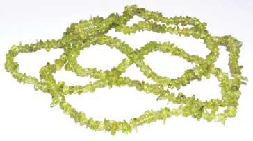 "32"" Peridot chip necklace"