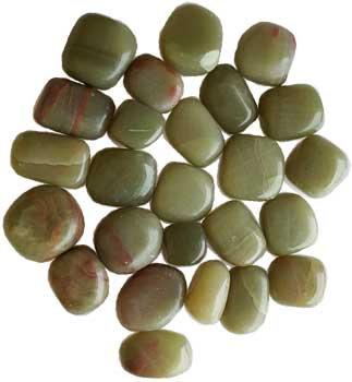 1 lb Aragonite, Green tumbled stones