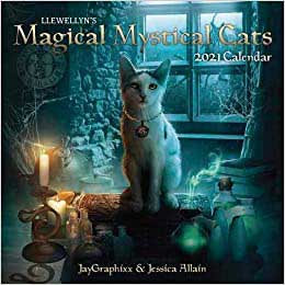 2021 Magical Mystical Cats Calendar by Llewellyn