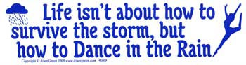 Life Isn't About How to Survive the Storm, but how to Dance