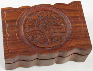 "Tree of Life herb box 4"" x 6"""