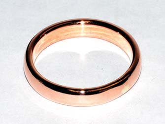4mm Dome Band size 7 copper