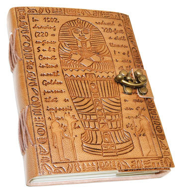 "5"" x 7"" Egyptian Embossed leather w/ latche"