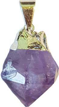 Amethyst polished pendant