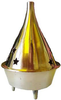 """3"""" Brass cone and Resin incense Burner"""