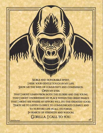 Gorilla Prayer poster