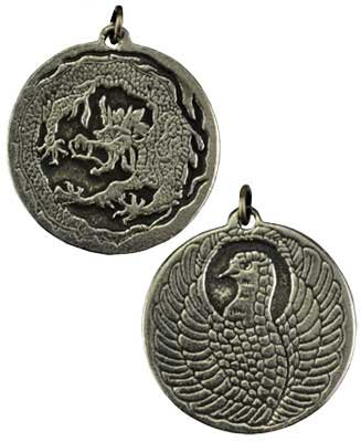 Dragon and Phoenix amulet