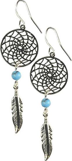 Dream Catcher earring w/ Turquoise