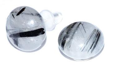 Tourmalated Quartz stud earrings