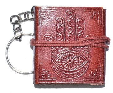 "1 3/4"" x 2"" Hasma Hand journal key chain"