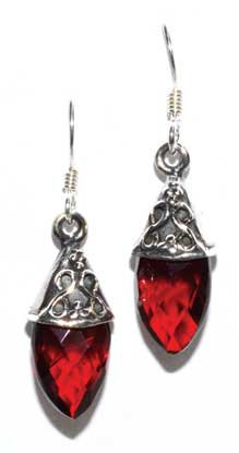 Teardrop garnet earrings