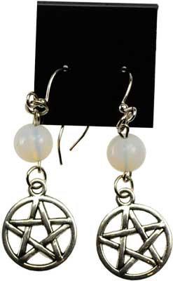 Opalite Pentagram earrings
