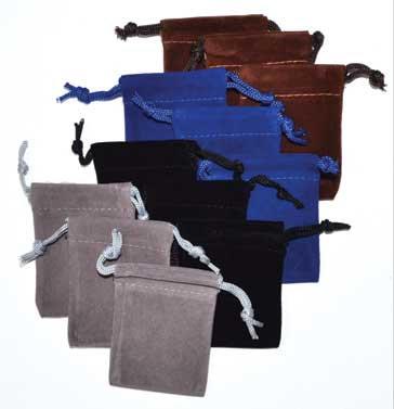 """2""""x3"""" Velveteen pouch (pk of 12)"""