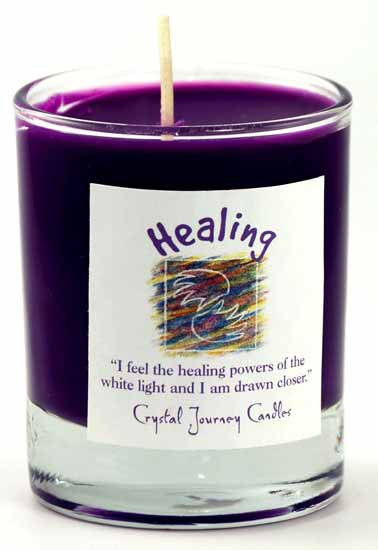 Healing soy votive candle