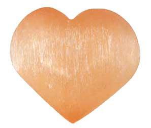 2 3/4 Orange Selenite heart