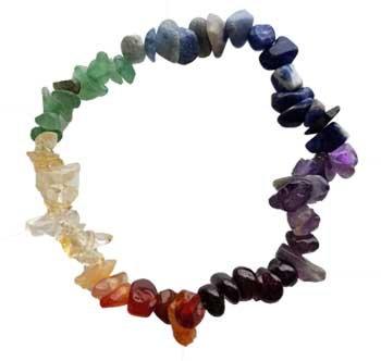 7 Chakra chip bracelet