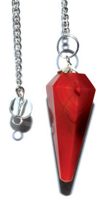 6-sided Red Carnelian pendulum