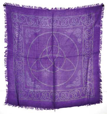 """Triquetra altar cloth 18"""" x 18"""""""