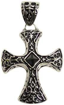 Celtic Cross with Black stud