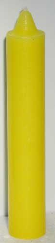 "9"" Yellow pillar candle"