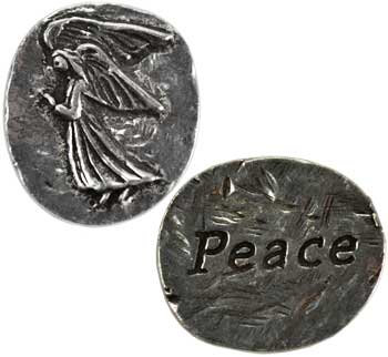 Peace Angel pocket stone