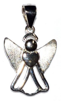"11/16"" Love Angel sterling pendant"