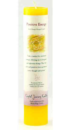 Positive Energy Reiki Charged Pillar Candle