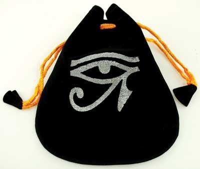 Eye of Horus Velveteen Bag