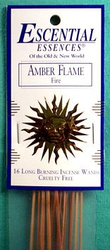Amber Flame escential essences incense sticks 16 pack
